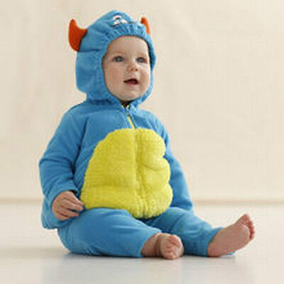 NEW Carter's Boys Girls Halloween Blue Monster Plush Costume 12m NWT Outfit Set