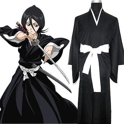 Anime Bleach Kuchiki Rukia Cosplay Soul Reaper Uniform Die pa Halloween Costume - Soul Reaper Halloween Costume