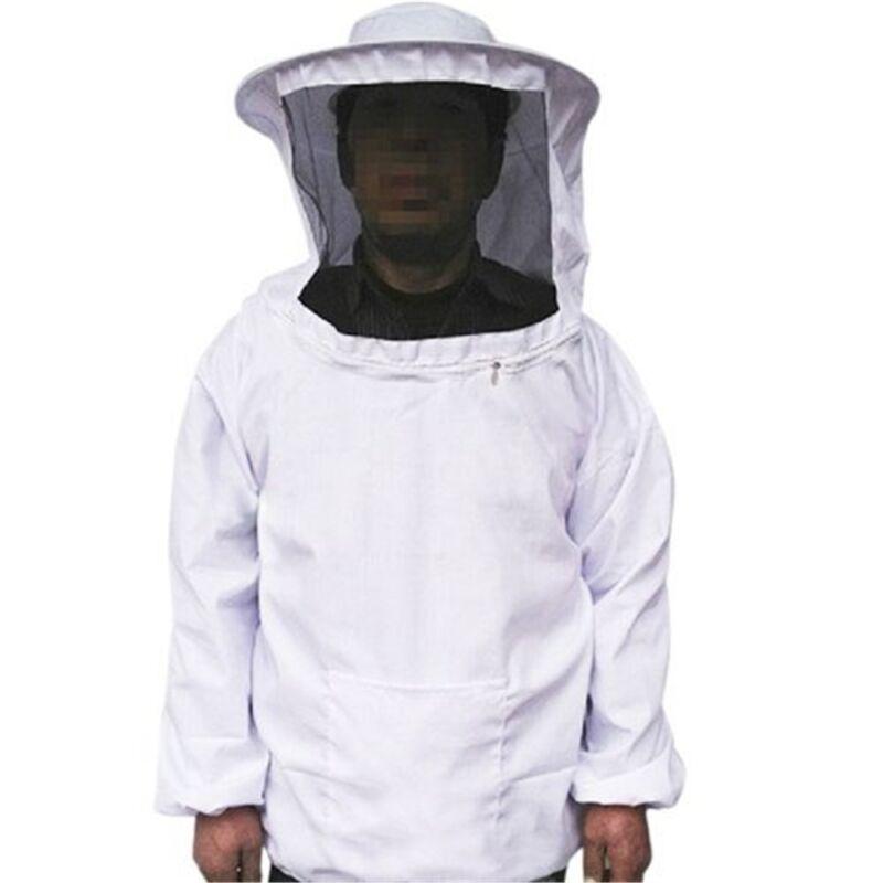 Professional Bee Beekeeping Protecting Suit Dress Jacket Veil Equipment White US