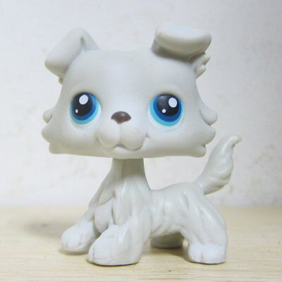 Littlest Pet Shop Collection LPS #363 Grey White Collie Puppy Dog Figure Toys