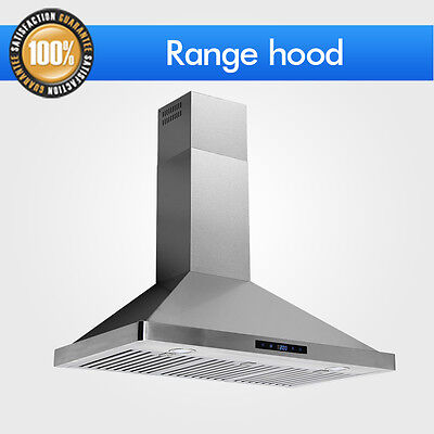 "36"" Wall Mount Range Hood Touch Control Kitchen Stove Stainless Steel Vent Fan"