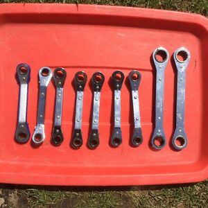 Nine Imperial Ratchet Wrenches