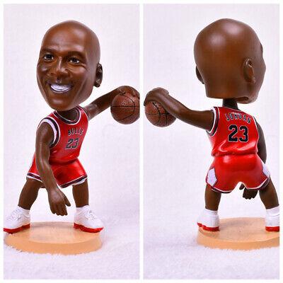 Soccerwe Bobblehead Doll 12cm Height Glass Fiber Resin 23 Michael Jordan Car