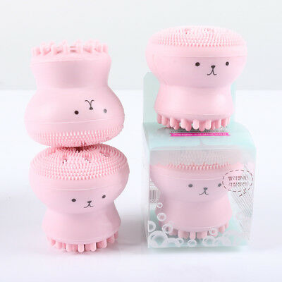 1PCS Silicone Cute Octopus Face Cleaner Massage Face Cleansers Spot Acne Sponge