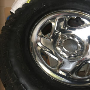 CHROME WINTER RIMS AND TIRES FOR TRUCK!