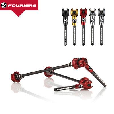 Fouriers Titanium Axle Carbon Lever Skewers MTB Road Bike QR Quick Release Set Carbon Qr Skewers