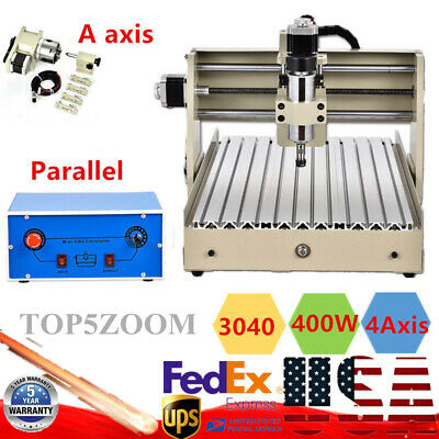 400w 4 Axis 3040 Cnc Router Engraver Engraving Drill Milling Machine T-screw Hot