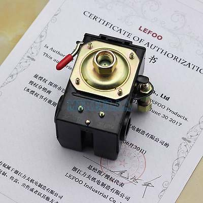 Air Compressor Pump Pressure Control Switch Valve 90-120PSI 1 Port On/Off Lever