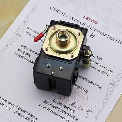 Air Compressor Pump Pressure Control Switch Valve 90-120psi 1 Port Onoff Lever