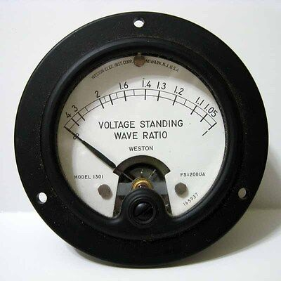 Weston Voltage Standing Wave Ratio 1301 Fs 200 Ua Panel Meter