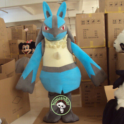 Cosplay Go Lucario Mascot Costume Suits Halloween Cosplay Party Game Dress