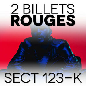 THE WEEKND 2 BILLETS Section 123 ROUGE Rangee K // CARTON & CD