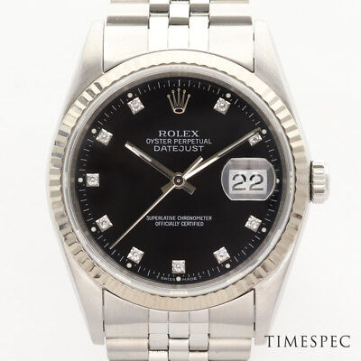 Rolex Gents Oyster Perpetual Datejust 16234 Original Rolex Diamond Dial with Box