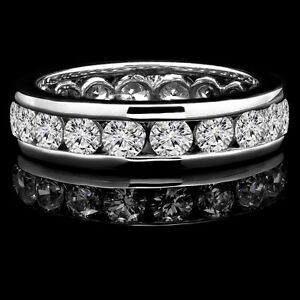 Superb Diamond Wedding Ring 3.30CTW Bague de marriage éternité