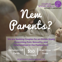 Seeking New Parents to Participate in a Postpartum Couples Stud
