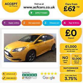 Ford Focus 2.0 ( 250ps ) EcoBoost 2014.75MY ST2 FROM £62 PER WEEK.