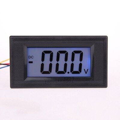 Acdc Powered 4 Wire Dc 0-200v199.9v Lcd Panel Volt Meter Voltmeter Yb5135d