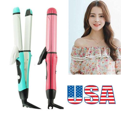 2 -1Curler Straightener Hot Hair Iron Curling Ceramic Wave M