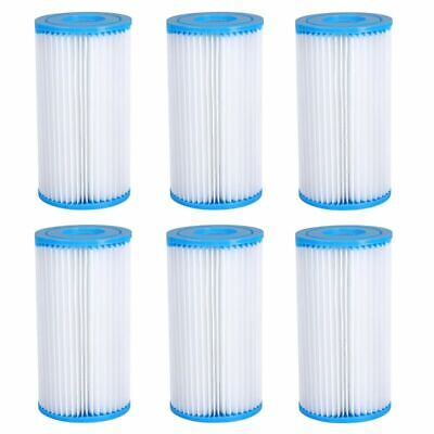 1/2/4/6 PCS Swimming Pool Filter Replacement-Cartridge for Type A or C Easy Set Home & Garden