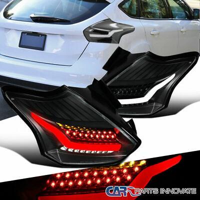 LED Black For 15-18 Ford Focus Hatchback Rear Tail Lights Brake Lamps Left+Right Ford Focus Brake Light