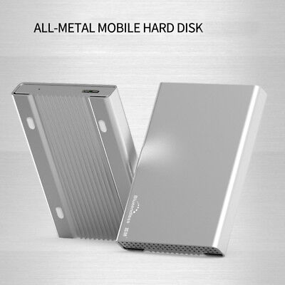 NEW 250GB USB 3.0 Portable 2.5 inch External Hard Disk Drive All Metal Silver