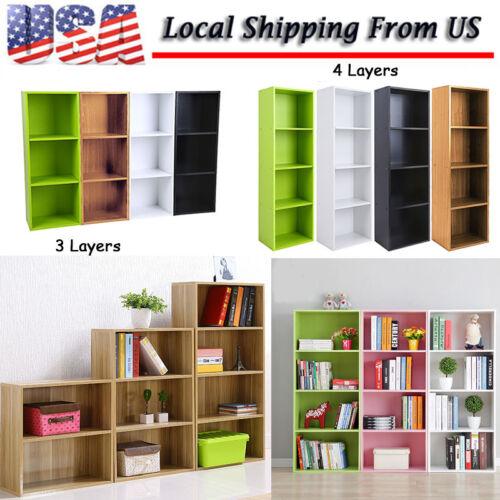 Bookcase Shelf Tall Effect Shelves Bookshelf Shelving Unit W