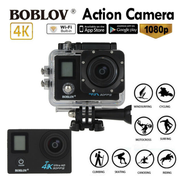Boblov WiFi 4K HD H.264 1080P 60fps Sports HDMI Action Camera Helmet Waterproof