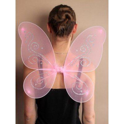 Rosa Flügel Kostüm (Flügel  Engel Schmetterling Fee Kostüm Schmetterlingsflügel rosa NEU  45x55 cm)