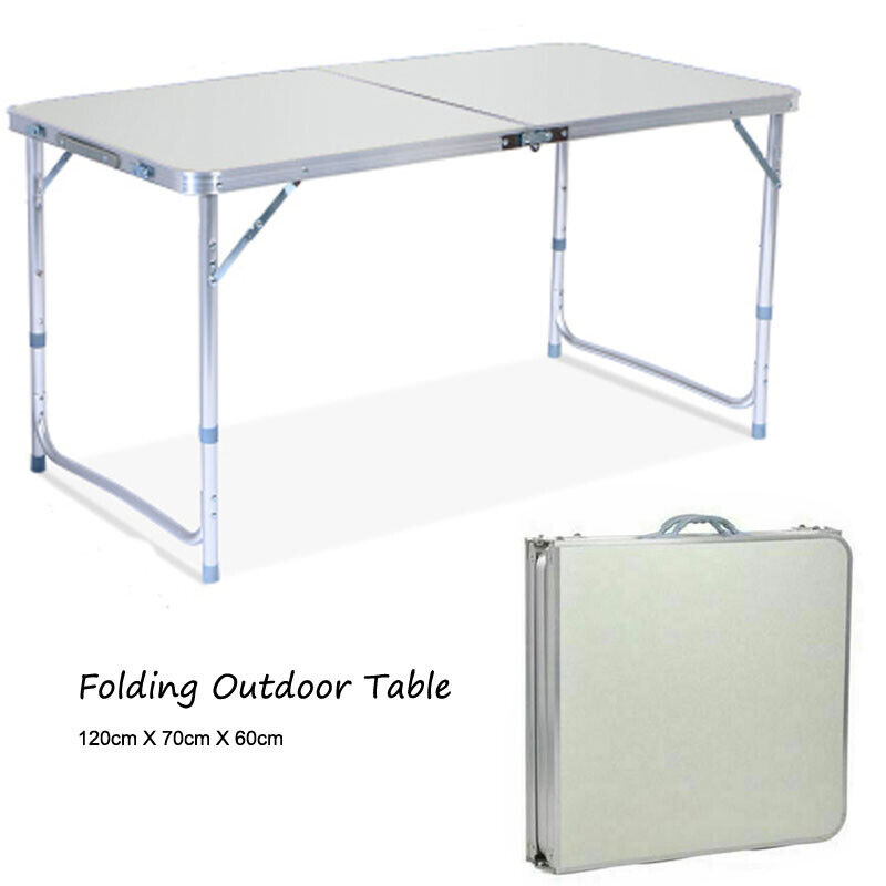 Portable Folding Camping Table Indoor Outdoor BBQ Plastic Picnic Table