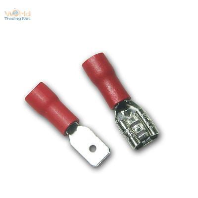 6 X Premium conector plano set 6mm cable zapatos aislamiento blanco auto KFZ 1-2,5mm²