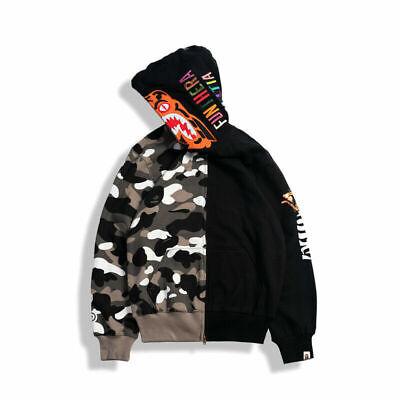 Bape A Bathing Ape Camo Hoodie Shark Head Sweatshirt Windbreaker Jacket Coat Hot