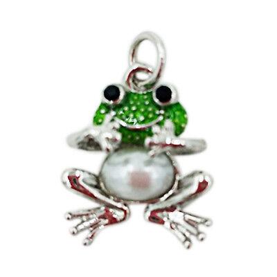 - Enamel Small Frog charm Silver