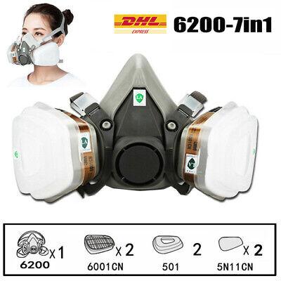Atemschutzmaske, Staubgasmaske mit Filter, Lackmaske, Chemische Maske für Staub