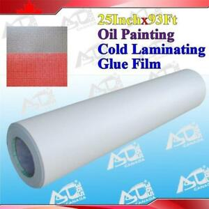 "Oil Painting Laminating Adhesive Glue 93' x25"" 3Mil 026229"