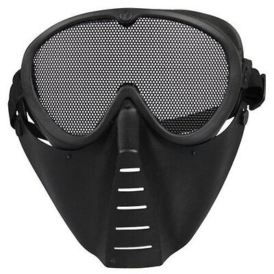 Airsoft Survival Paintball Full Face Safety Protection Gear Goggles Mask New