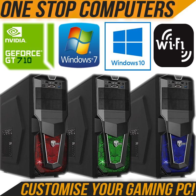 Computer Games - CUSTOMISE YOUR ULTRA FAST GAMING COMPUTER PC CUSTOMISE RAM HDD CPU GRAPHICS