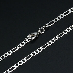 30 inch Silver gold Rope Figaro Link Chain Mens Womens Stylish