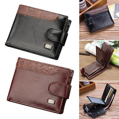 Herren Geldbörse Ledergeldbörse mit RFID-Schutz Schlanke Geldbeutel