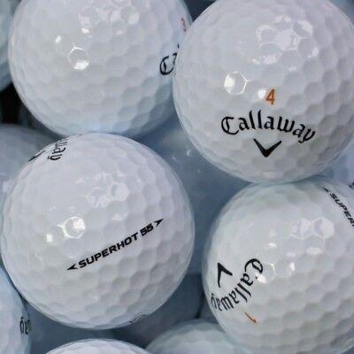 150 Golfbälle Callaway Superhot 55 AAA/AAAA Qualität Super Hot Lakeballs Bälle ()