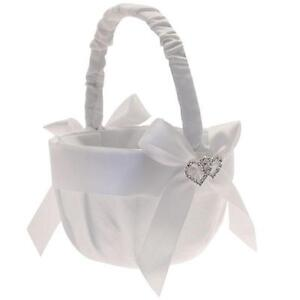 Flower girl basket ebay white flower girl baskets mightylinksfo