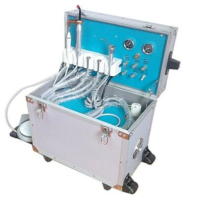 New Dental Portable Delivery Unit Rolling Case Curing Lightultrasonic Scaler 4h