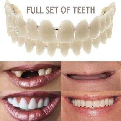 28pcs Full Set Upperlower Dental Synthetic Resin False Fake Teeth Oral Denture