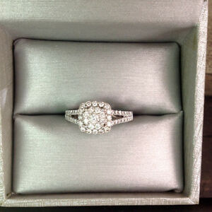 .70 CTTW 14K White Gold Brilliant Round Diamond Ring (Size 8)