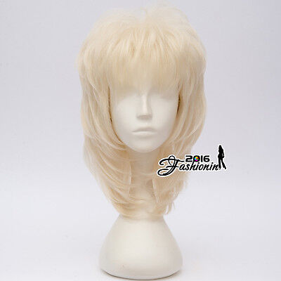 Retro Halloween Dolly Parton 40cm Country Music Light Blonde Cosplay Anime Wig  - Dolly Parton Halloween Wigs