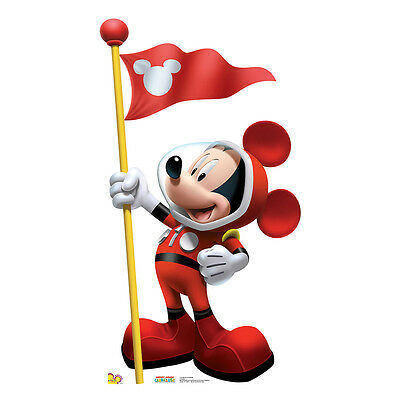 MICKEY MOUSE Disney Space Astronaut CARDBOARD CUTOUT Standee Standup Poster F/S