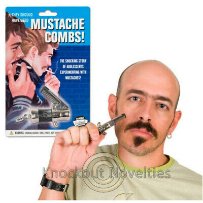 Switchblade Mustache Comb Funny Novelty Mustache Gift Party Favor Bag ](Mustache Gifts)