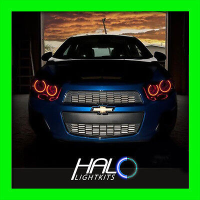 2012-2014 CHEVY SONIC RED LED HEADLIGHT HALO ANGEL EYES RINGS by ORACLE