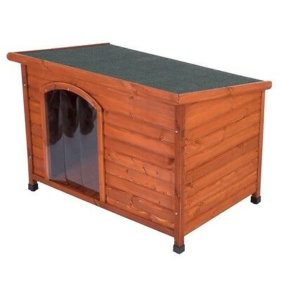 Outdoor Dog Kennel Wooden Weatherproof Shelter Pet House Garden Doghouse Small
