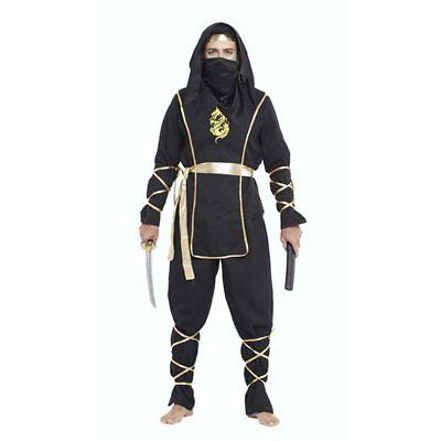 Adult Ninja Suit (Halloween Adult Men Black Warrior Dragon Ninja Swordsman Costume Suit)