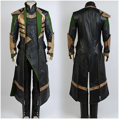 The Avengers Thor Loki Cosplay Costume Adult Size Cos Suits Outfit Halloween New (Thor Loki Halloween Costume)